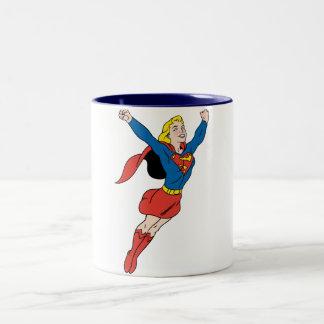 Supergirl Pose 6 Two-Tone Coffee Mug