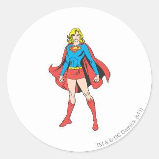 Supergirl Poses Classic Round Sticker