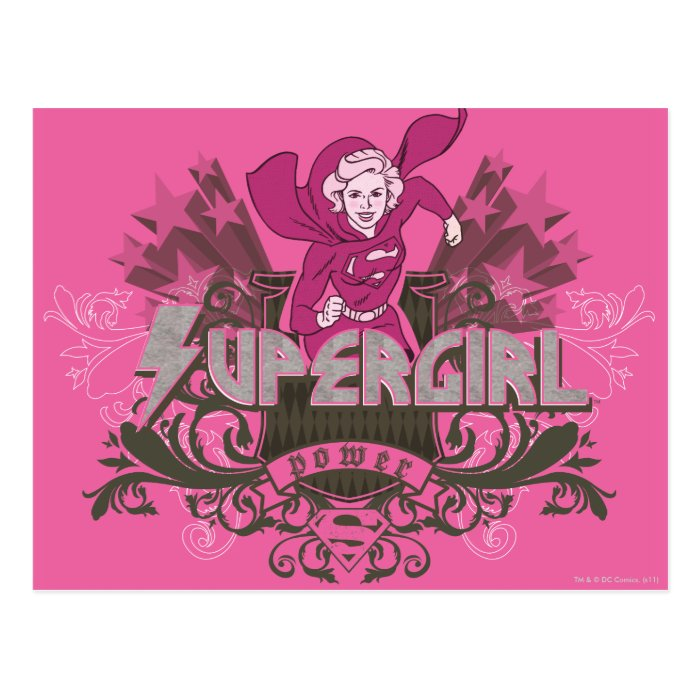 Supergirl Power 2 Postcard