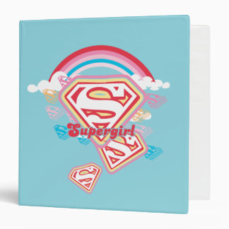 Supergirl Rainbow Binders