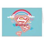 Supergirl Rainbow Greeting Card