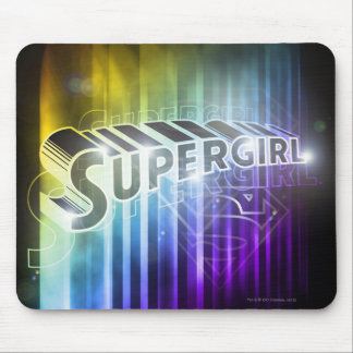 Supergirl Rainbow Mouse Pad