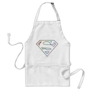 Supergirl Rainbow Outline Logo Adult Apron