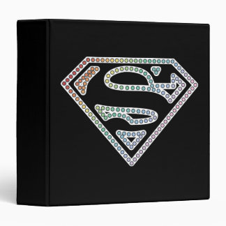 Supergirl Rainbow Outline Logo Binder