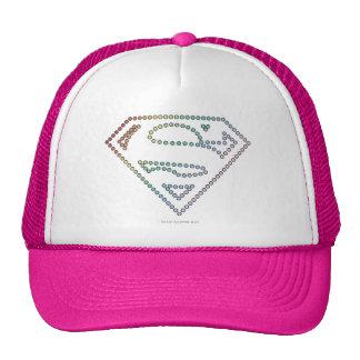 Supergirl Rainbow Outline Logo Mesh Hat