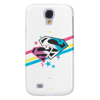 Supergirl Rainbow Stripes Galaxy S4 Cases