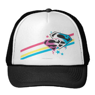 Supergirl Rainbow Stripes Mesh Hat