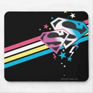 Supergirl Rainbow Stripes Mouse Pad