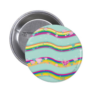 Supergirl Rainbow Waves Green Buttons