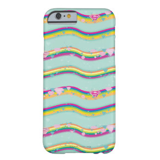 Supergirl Rainbow Waves Green Barely There iPhone 6 Case
