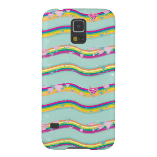 Supergirl Rainbow Waves Green Galaxy S5 Case