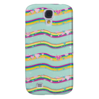 Supergirl Rainbow Waves Green Galaxy S4 Cover