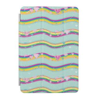 Supergirl Rainbow Waves Green iPad Mini Cover