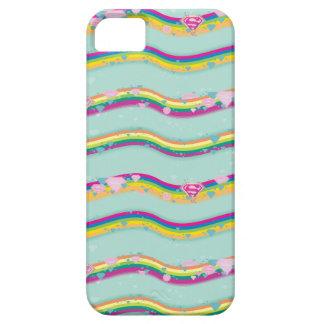 Supergirl Rainbow Waves Green iPhone 5 Case