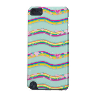 Supergirl Rainbow Waves Green iPod Touch 5G Case