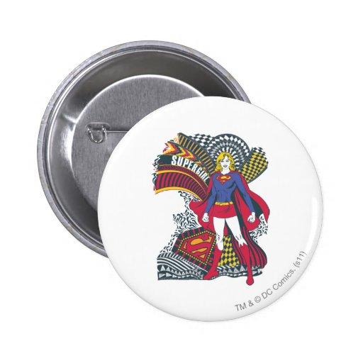Supergirl Random World 1 2 Inch Round Button