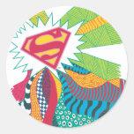 Supergirl Random World 3 Classic Round Sticker
