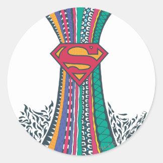 Supergirl Random World 4 Classic Round Sticker