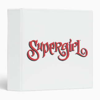 Supergirl Red Logo 3 Ring Binder
