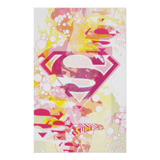 Supergirl Retro Logo Poster