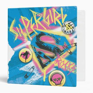Supergirl Rocks 3 Ring Binder