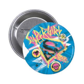 Supergirl Rocks Button
