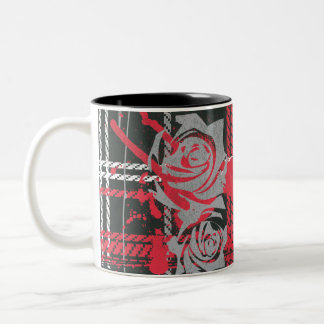 Supergirl Roses Two-Tone Coffee Mug