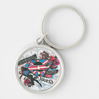 Supergirl Saves the World Keychain