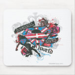 Supergirl Saves the World Mouse Pad