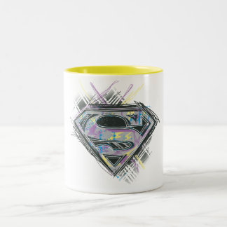 Supergirl Scribbles Logo Two-Tone Coffee Mug
