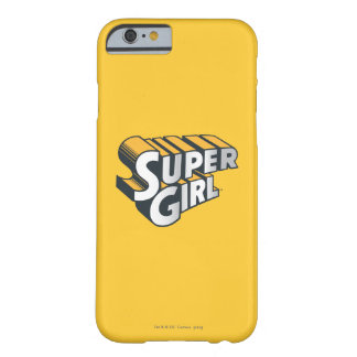 Supergirl Silver and Orange Logo Barely There iPhone 6 Case