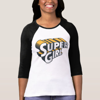 Supergirl Silver and Orange Logo T Shirt