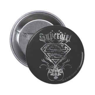 Supergirl Silver Logo Buttons
