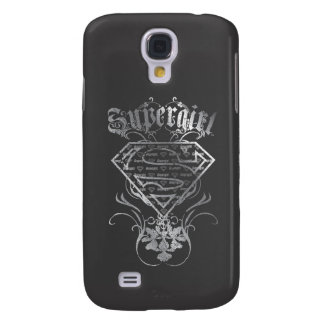 Supergirl Silver Logo Galaxy S4 Cover