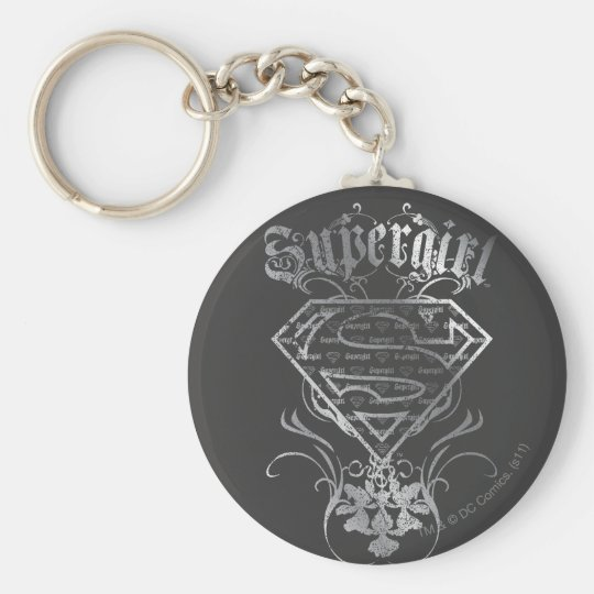 Supergirl Silver Logo Keychain