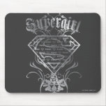 Supergirl Silver Logo Mouse Pad