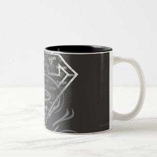 Supergirl Silver Logo Two-Tone Coffee Mug