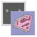 Supergirl Sketched Pink Logo Button
