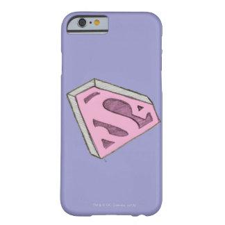 Supergirl Sketched Pink Logo iPhone 6 Case