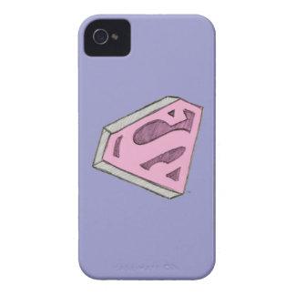 Supergirl Sketched Pink Logo Case-Mate iPhone 4 Case