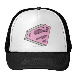 Supergirl Sketched Pink Logo Hats