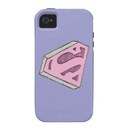 Supergirl Sketched Pink Logo iPhone 4/4S Cover