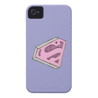 Supergirl Sketched Pink Logo iPhone 4 Case