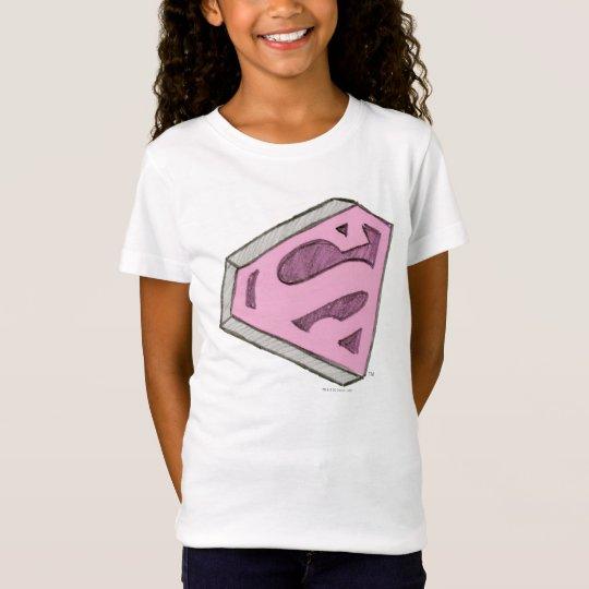Supergirl Sketched Pink Logo T-Shirt