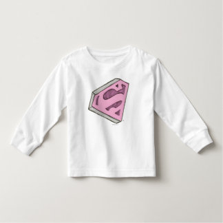 Supergirl Sketched Pink Logo Toddler T-shirt