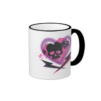 Supergirl Skulls and Lightning Ringer Coffee Mug