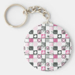 Supergirl Skulls and Pins Pattern Key Chains