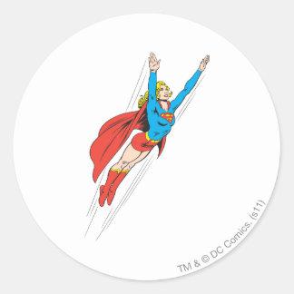 Supergirl Soars High Classic Round Sticker