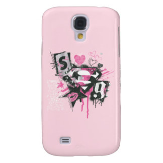 Supergirl Spills and Scribbles Collage Samsung Galaxy S4 Case