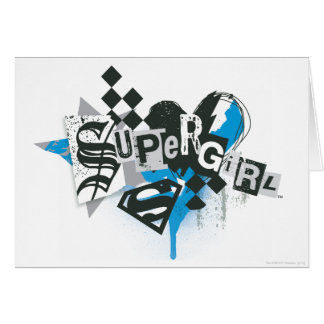 Supergirl Spills and Splatter Card
